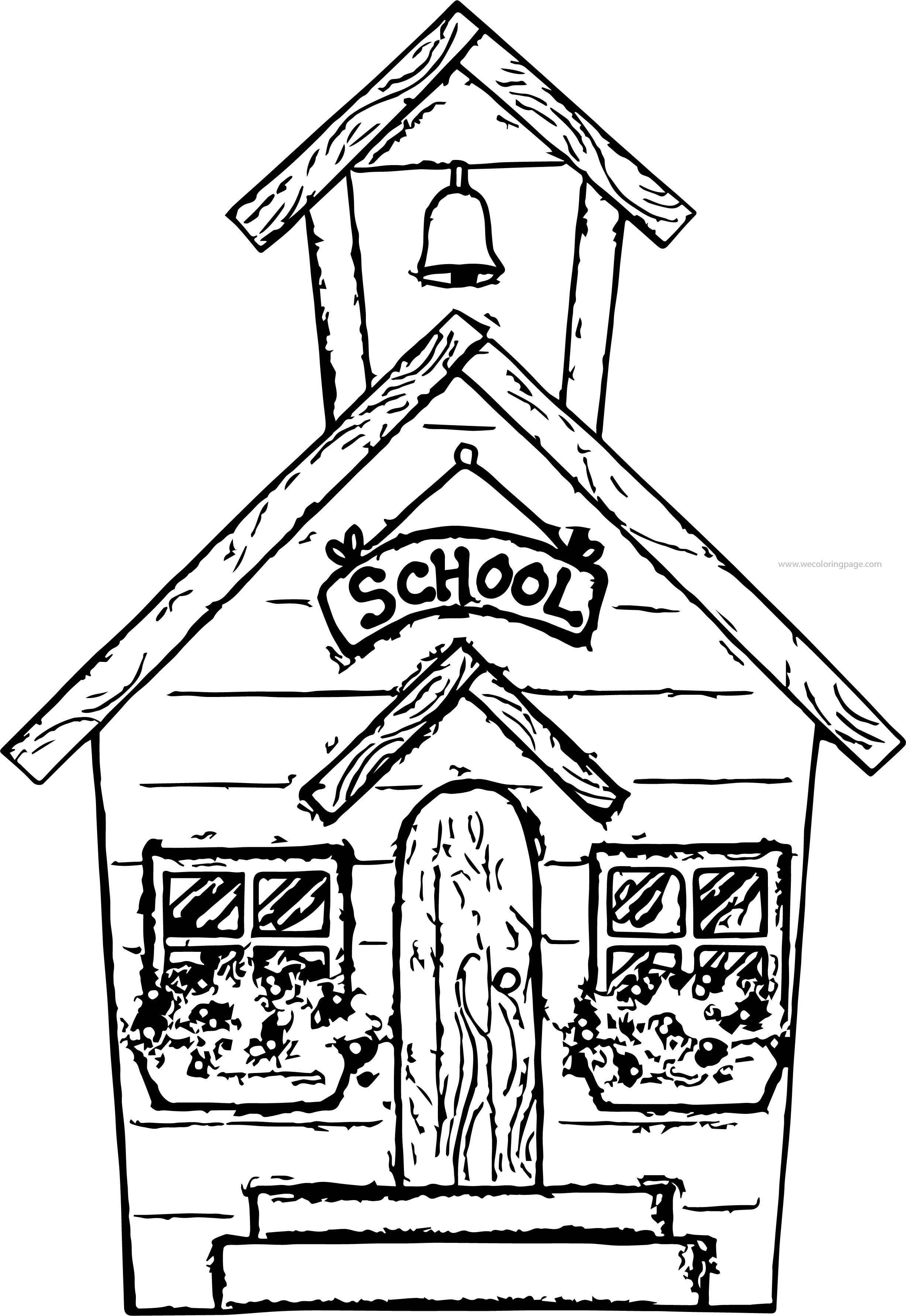 Summer School Coloring Page