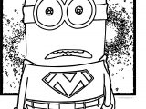 Superman Minion Coloring Page