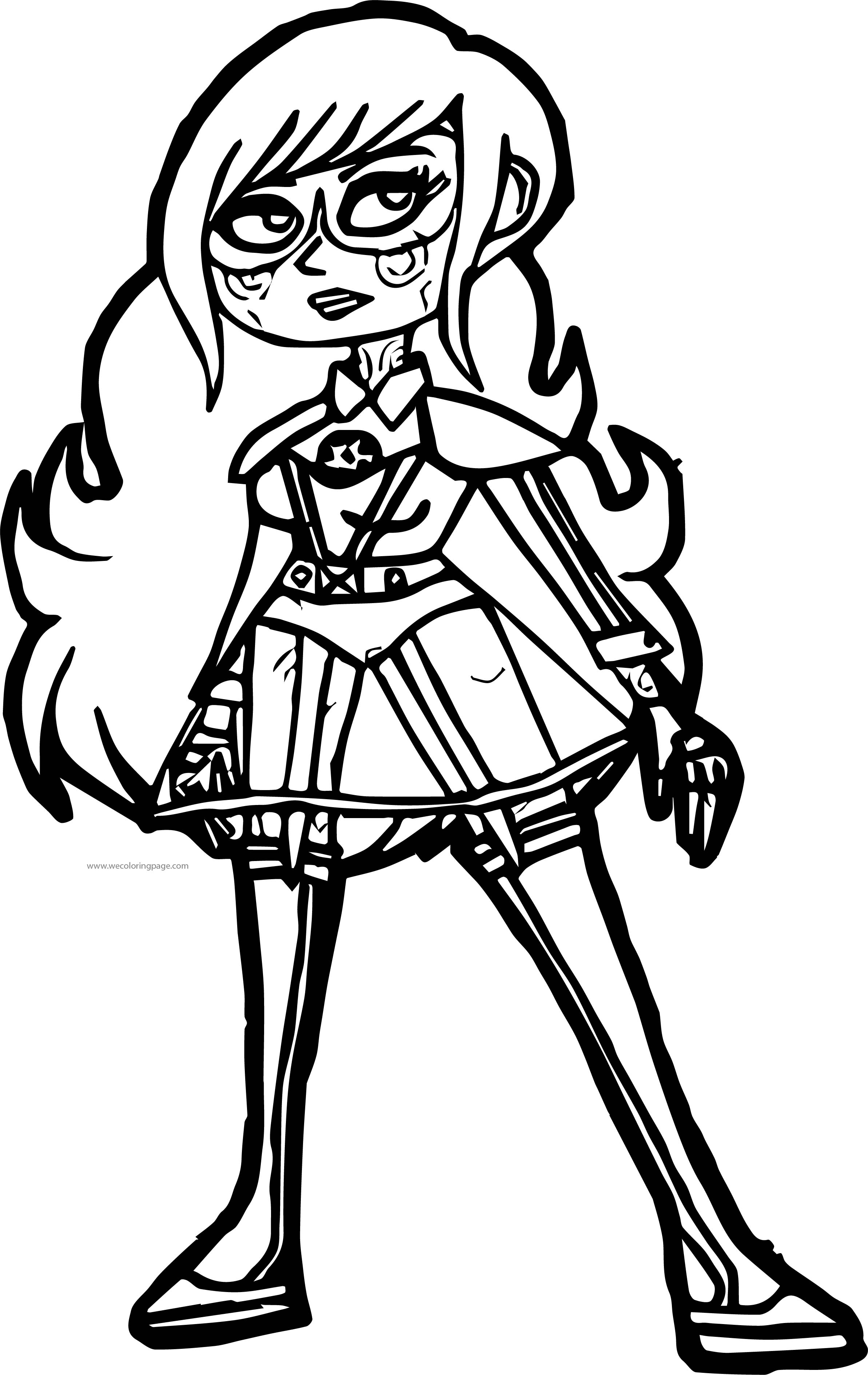 Supernoobs Girl Coloring Page