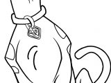 Sweet Image Of Scooby Doo Coloring Page