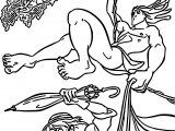 Tarzan And Jane Forest Coloring Pages