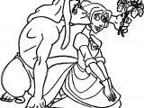 Tarzan And Jane Give Flower Coloring Pages
