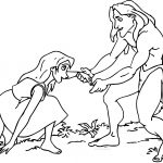 Tarzan And Jane Help Coloring Pages