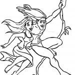 Tarzan And Jane In The Forest Flying Coloring Pages