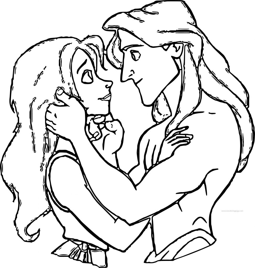 Tarzan And Jane Love Look Coloring Pages Wecoloringpage