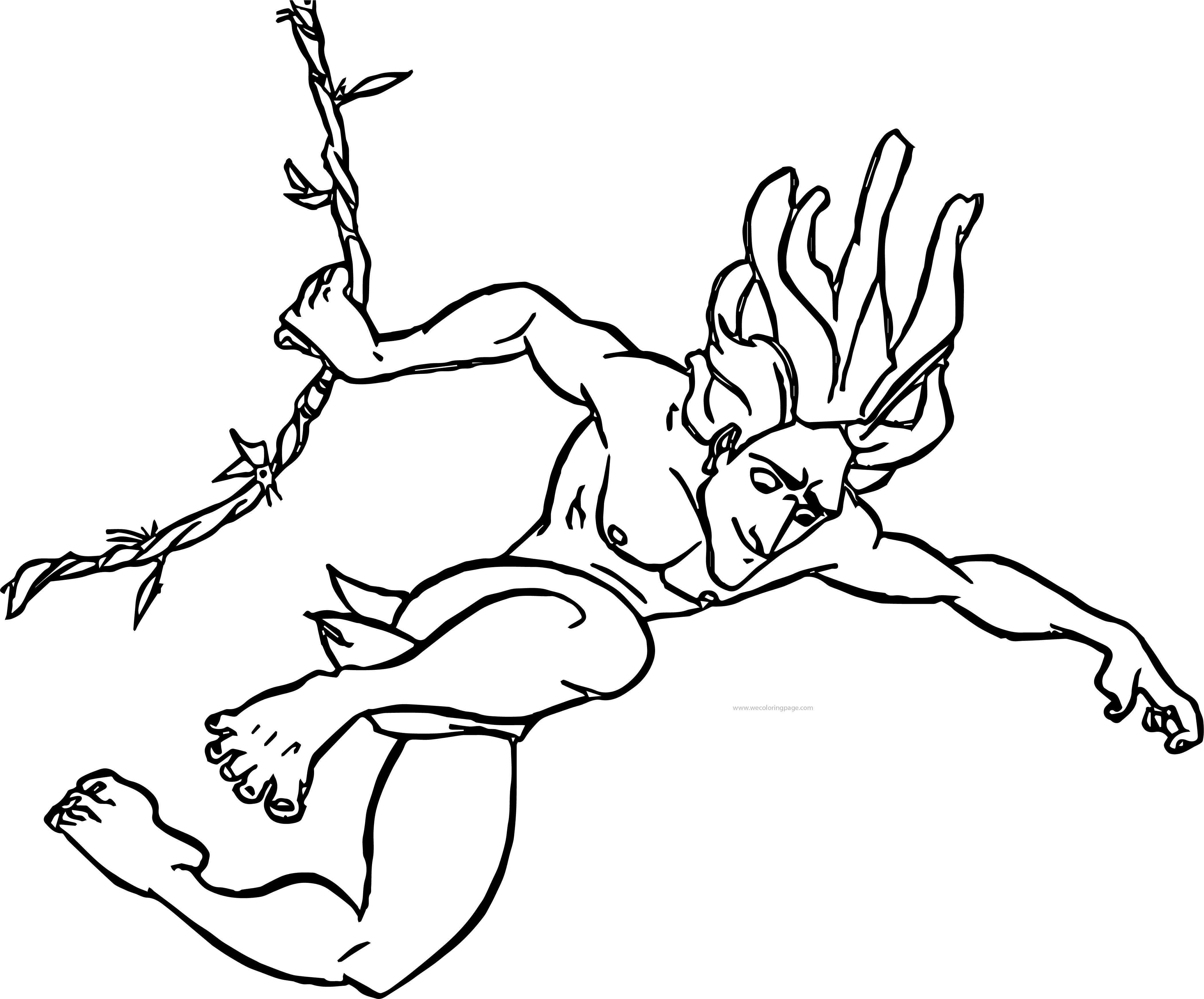 Tarzan Rope Down Coloring Page