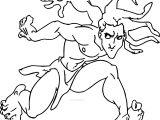 Tarzan Running Coloring Page