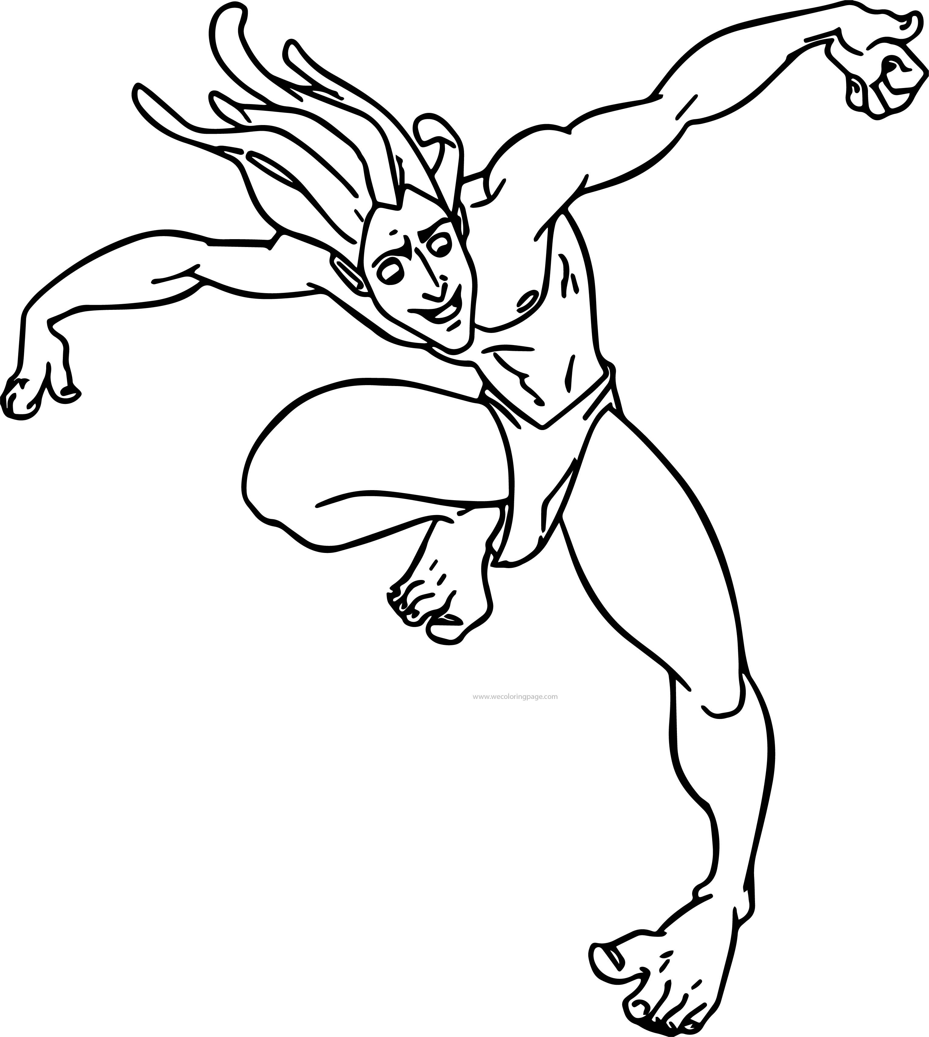 Tarzan Slide Joy Coloring Page