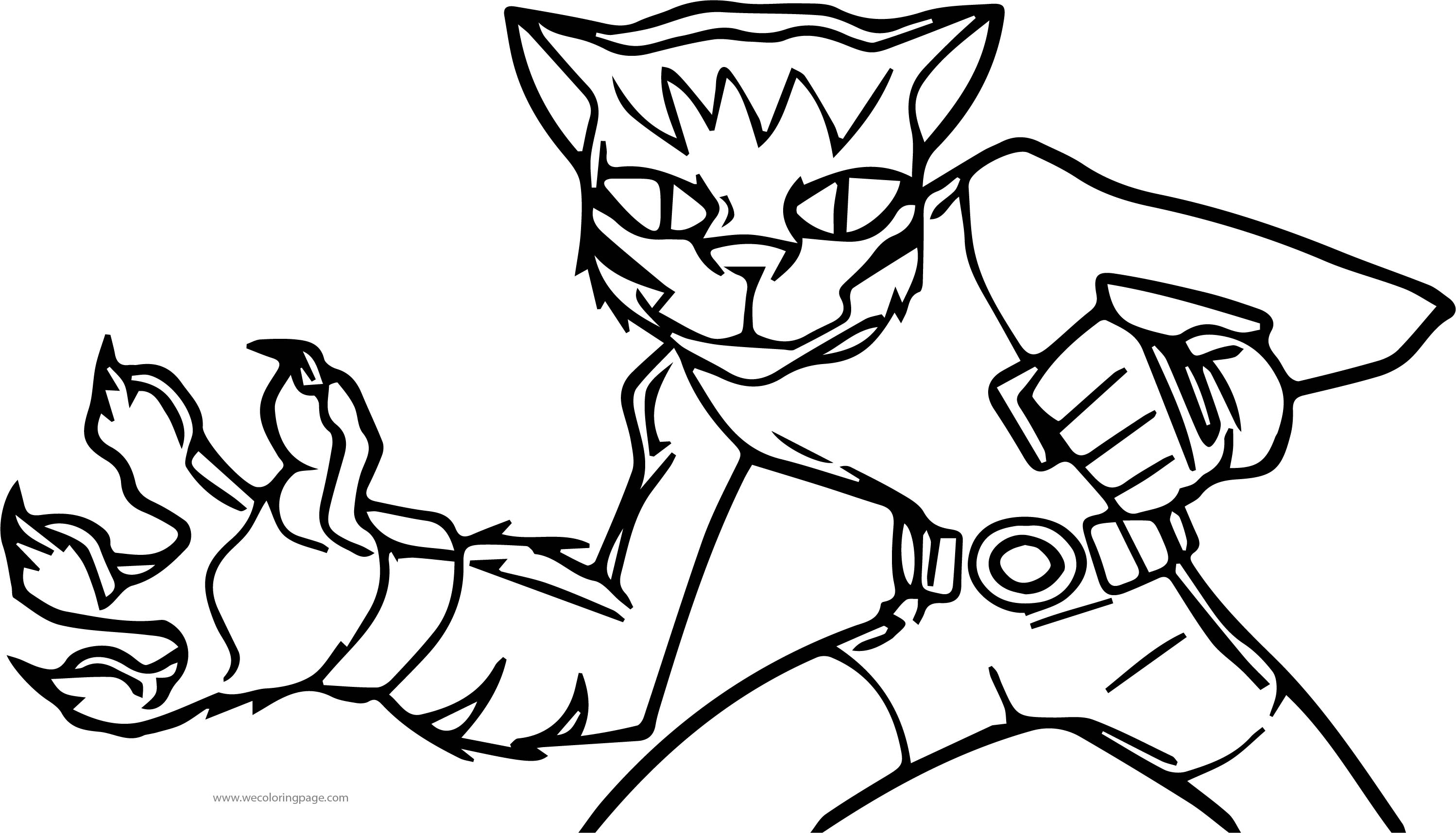 Teen Titans Beast Boy Lion Coloring Page
