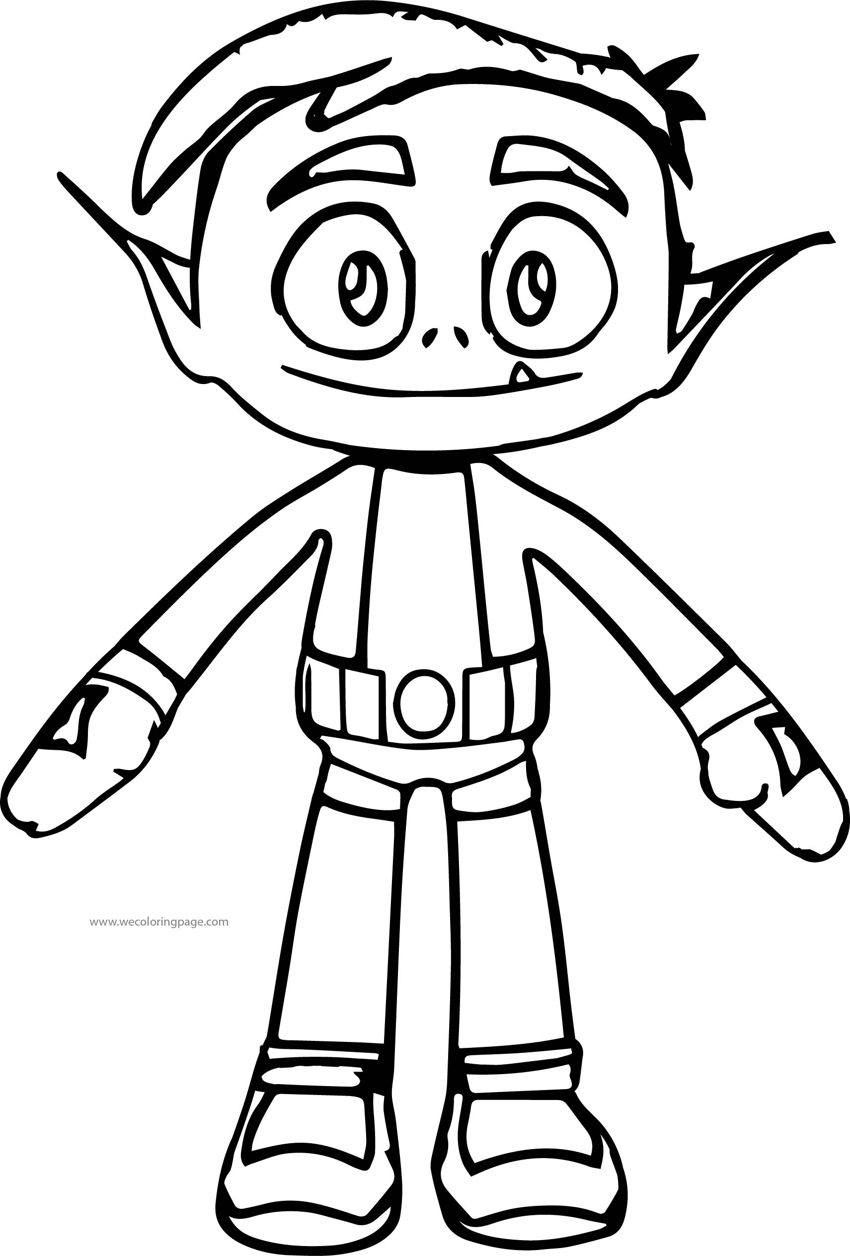Teen Titans Go Robin Front View Coloring Pages