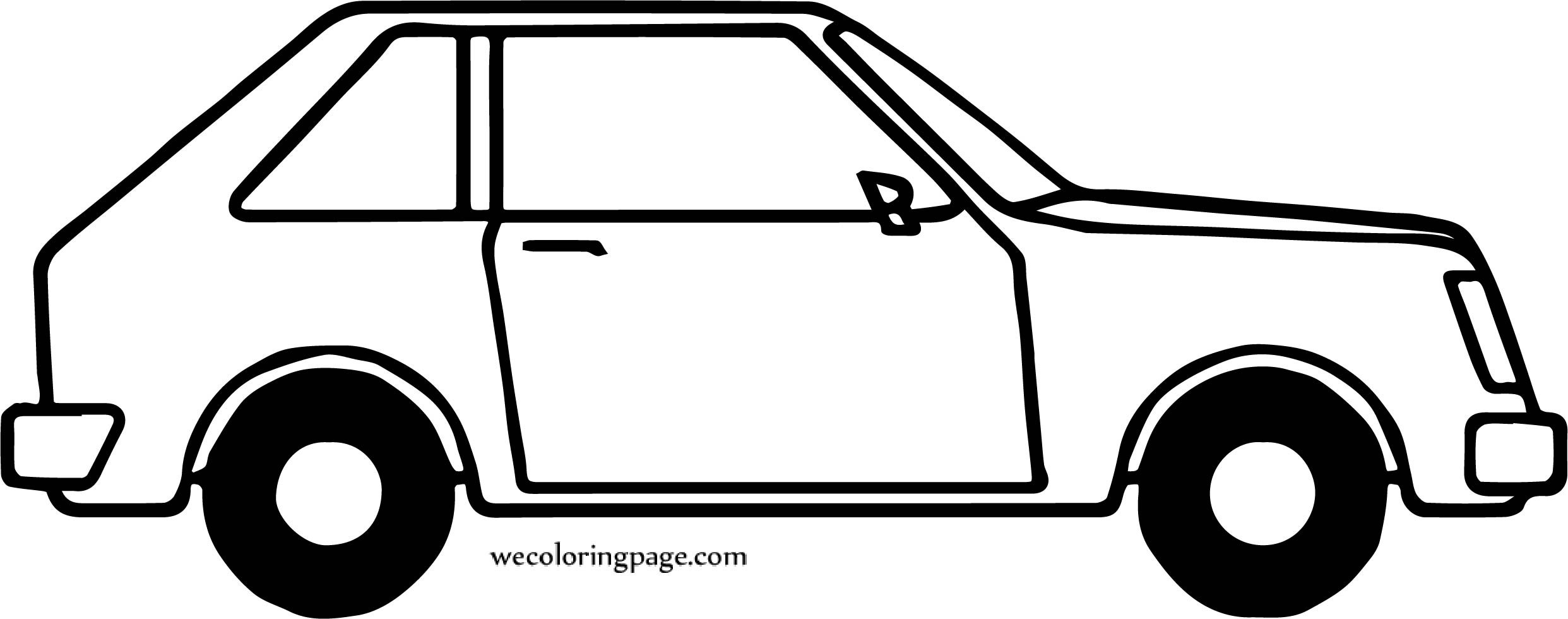 Tell Car Coloring Page