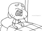 The Amazing World Of Gumball The Movie Crying Coloring Page