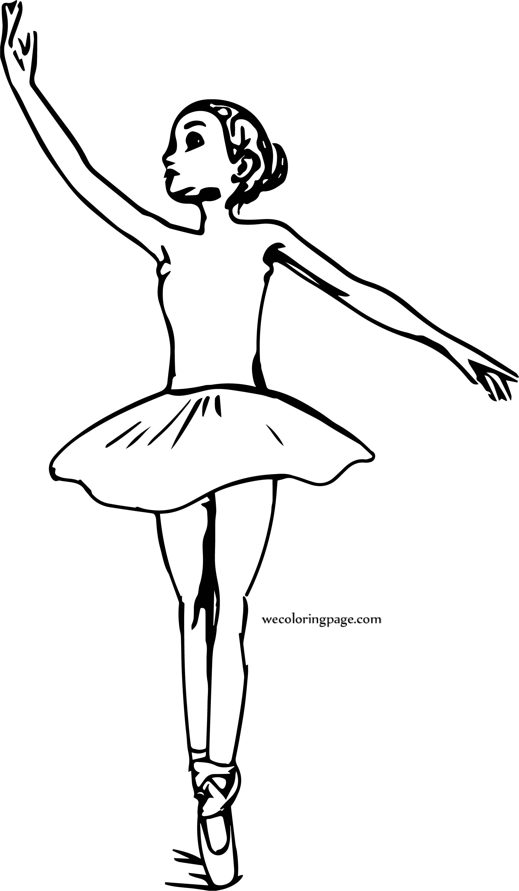 The Ballerina Girl Coloring Page