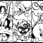 Three Looney Tunes Coloring Page