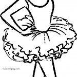 To Ballerina Girl Coloring Page