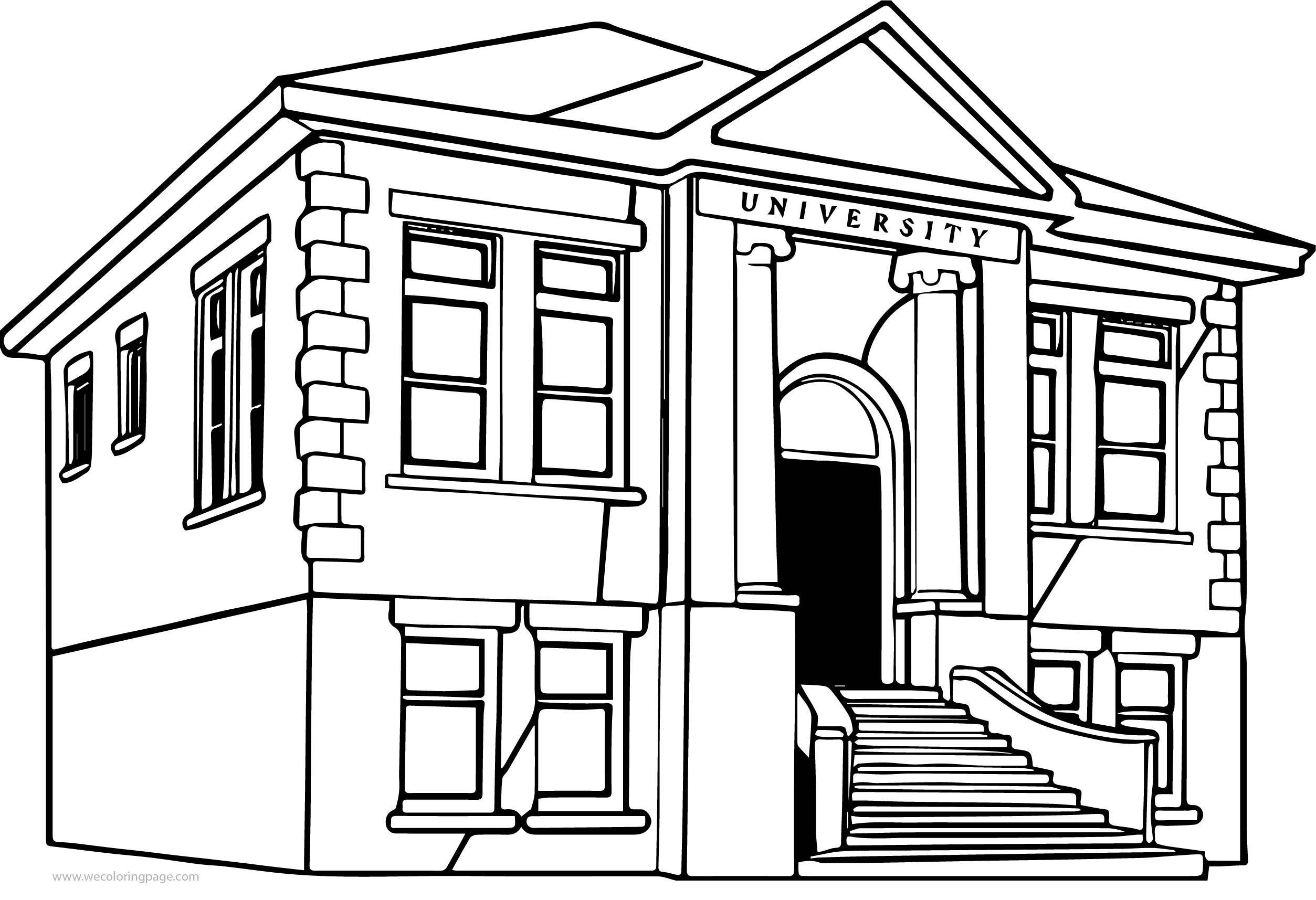 University Coloring Page Wecoloringpage Com