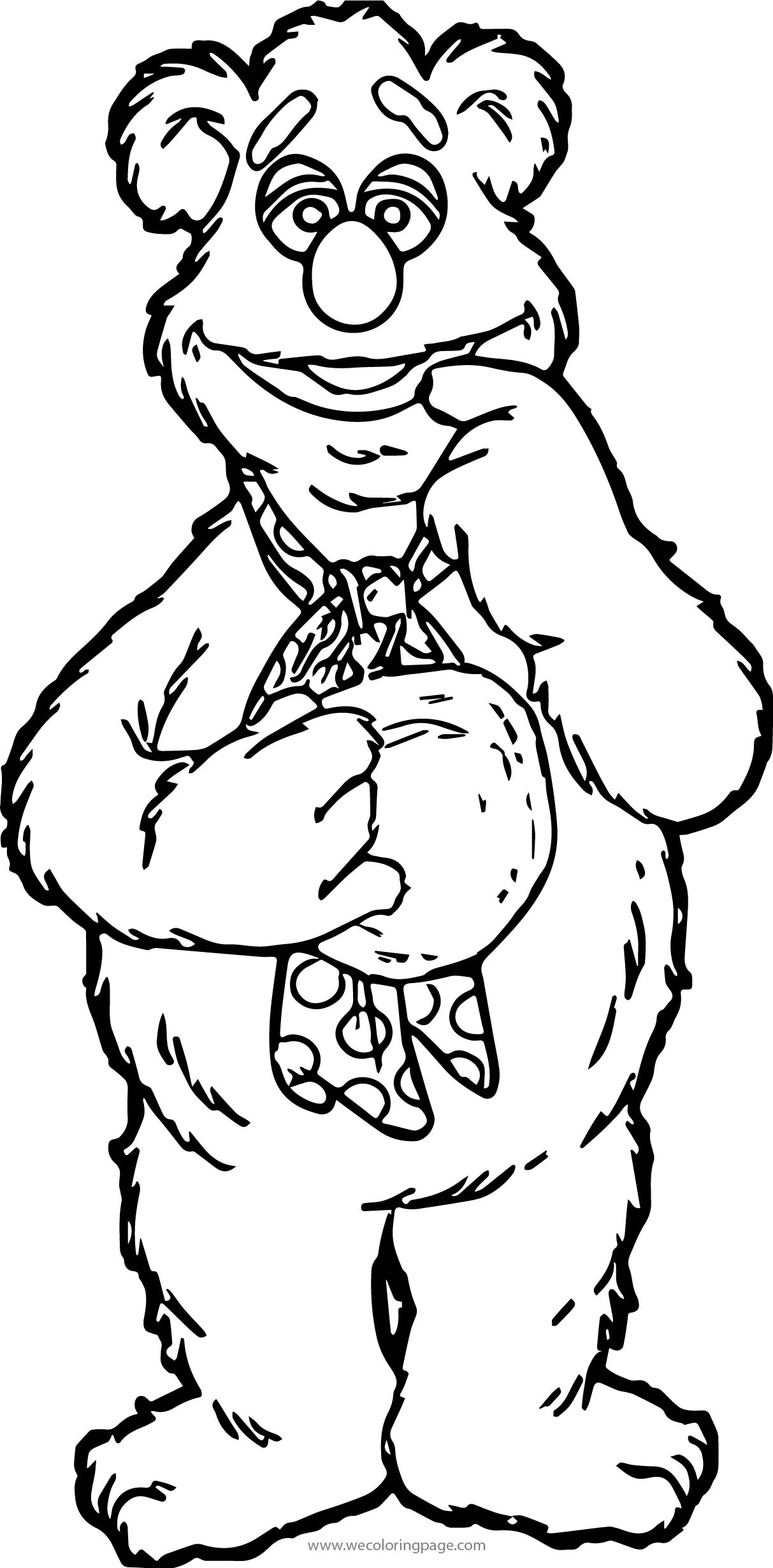 Up Bear Coloring Page