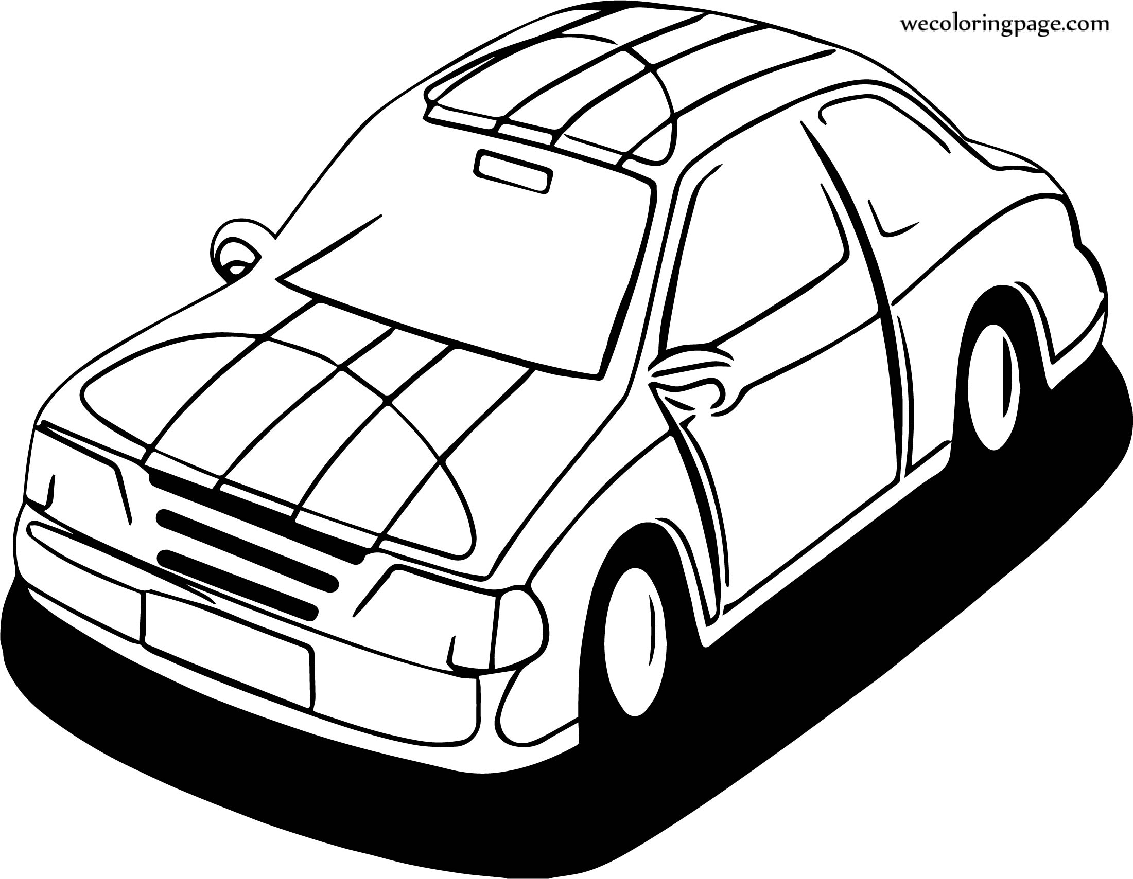 Up Car Coloring Page