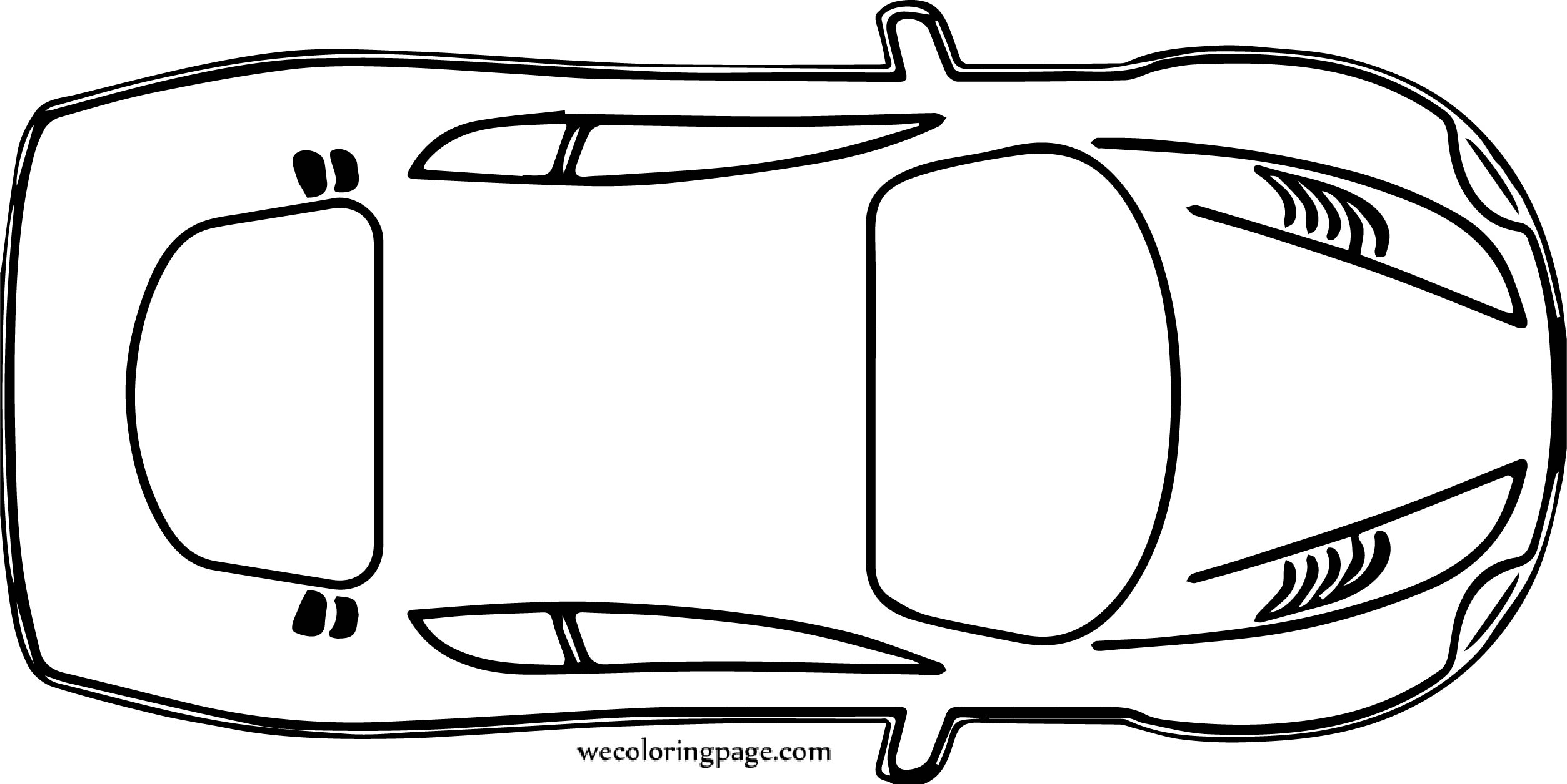 want top view car coloring page