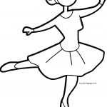 Was Ballerina Girl Coloring Page