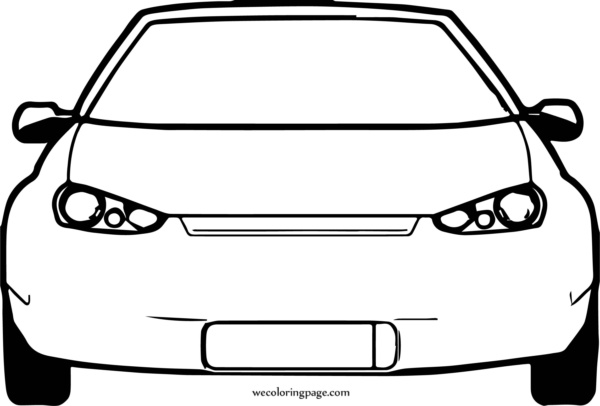 Were Front View Car Coloring Page