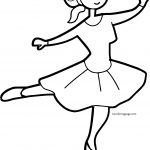 With Ballerina Coloring Page
