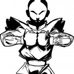 Aang Avatar Black Angry Coloring Page