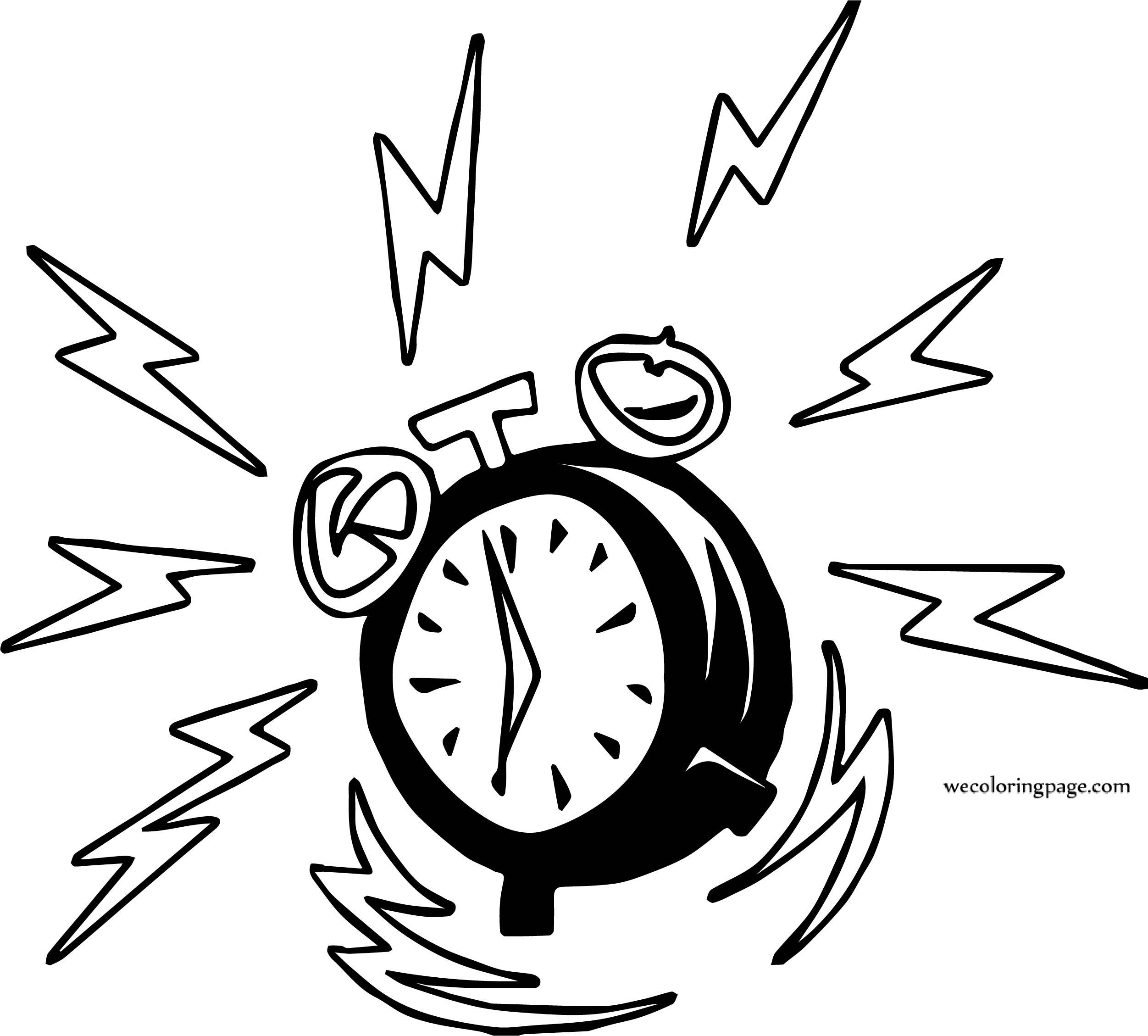 Alarm Clock Dong Coloring Page