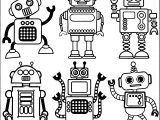 All Free Download Robot Coloring Page