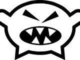 Angry Comic Monsters Character Design Coloring Page