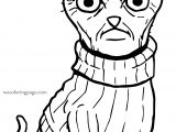 Angry Gang Cat Coloring Page