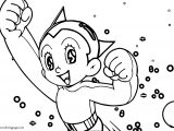 Astro Boy Enjoy Coloring Page