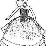 Barbie Big Dress Coloring Page