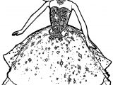 Barbie Big Dress Coloring Page
