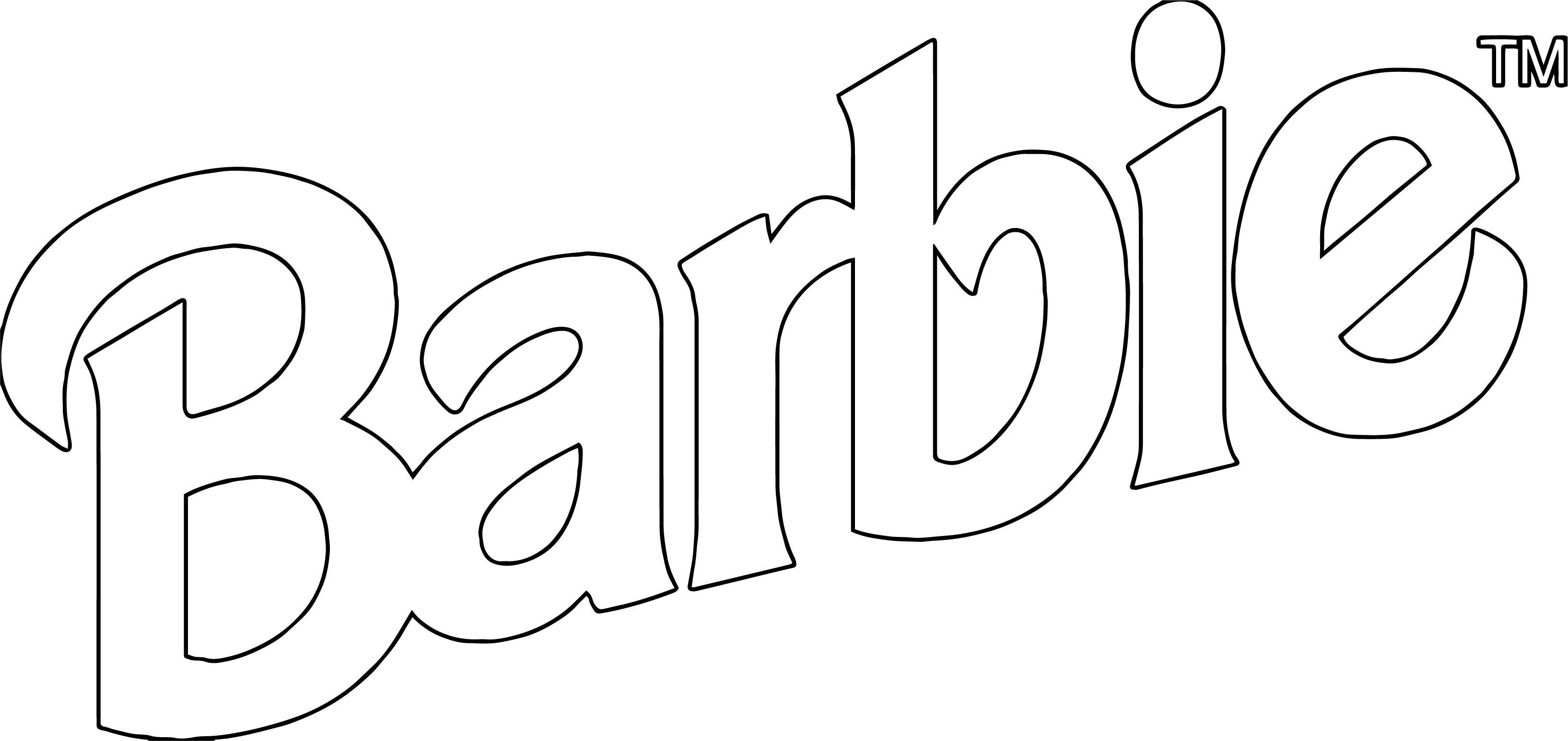 Barbie Logo Bold Coloring Page