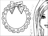 Barbie Sheet Coloring Page