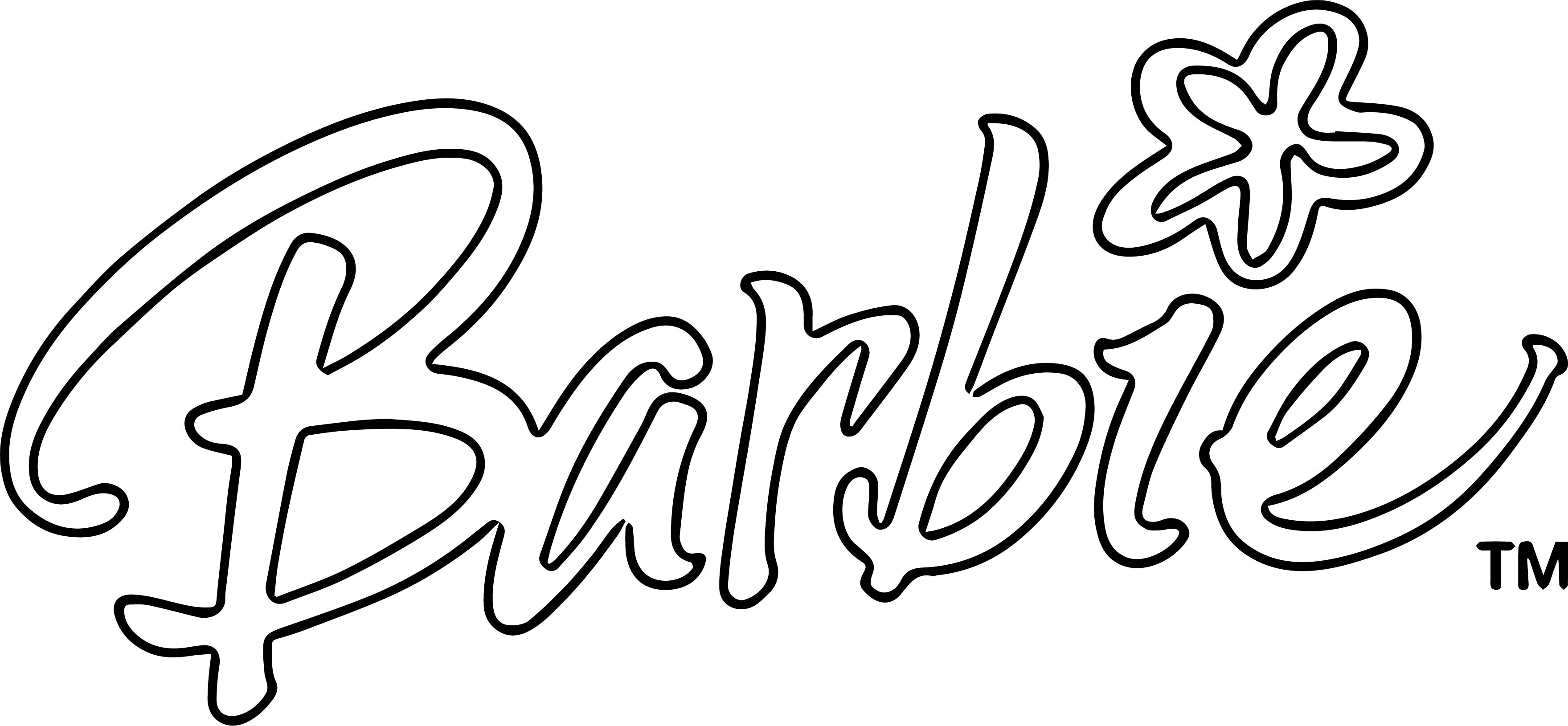 Barbie Text Style Coloring Page