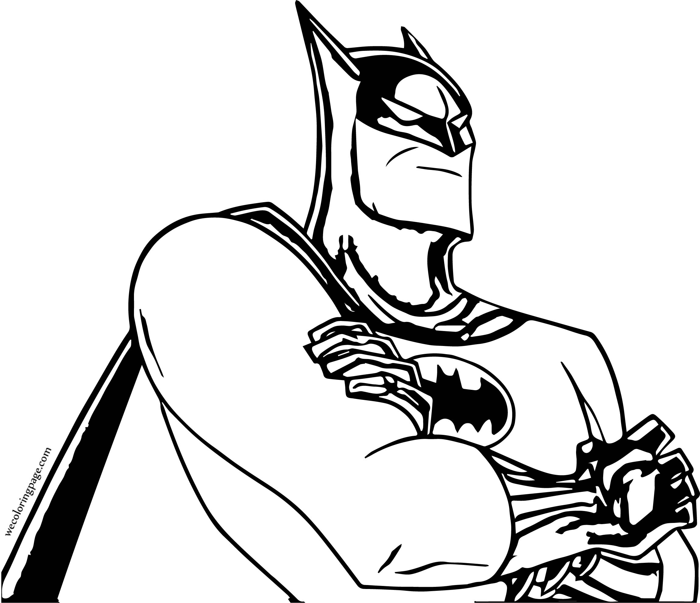 Batman Big Think Coloring Page