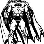 Batman Front Power Coloring Page
