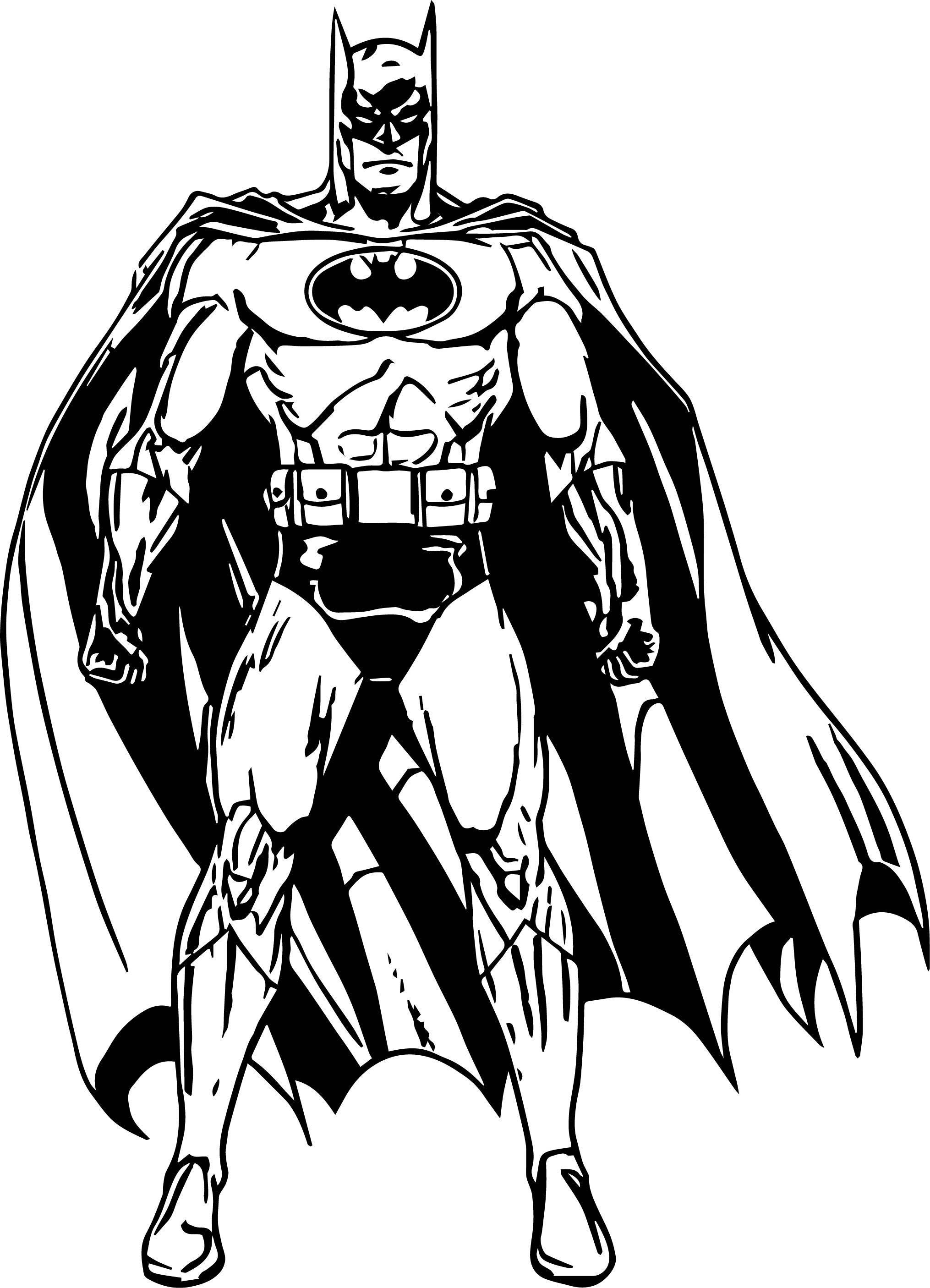 Batman Front View Power Coloring Page
