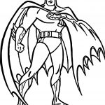 Batman Outline Pose Coloring Page