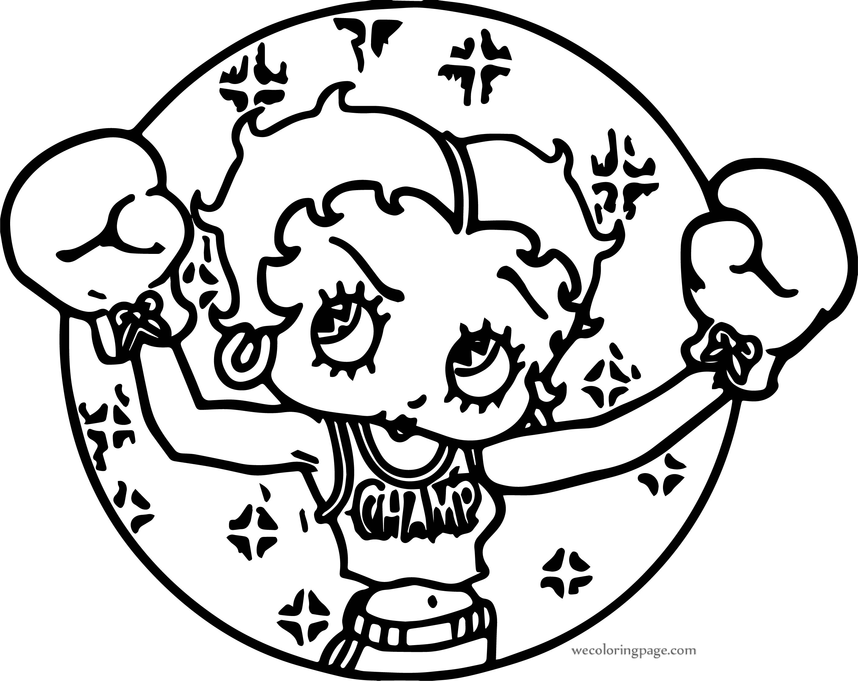 Betty Boop Boxing Girl Circle Coloring Page