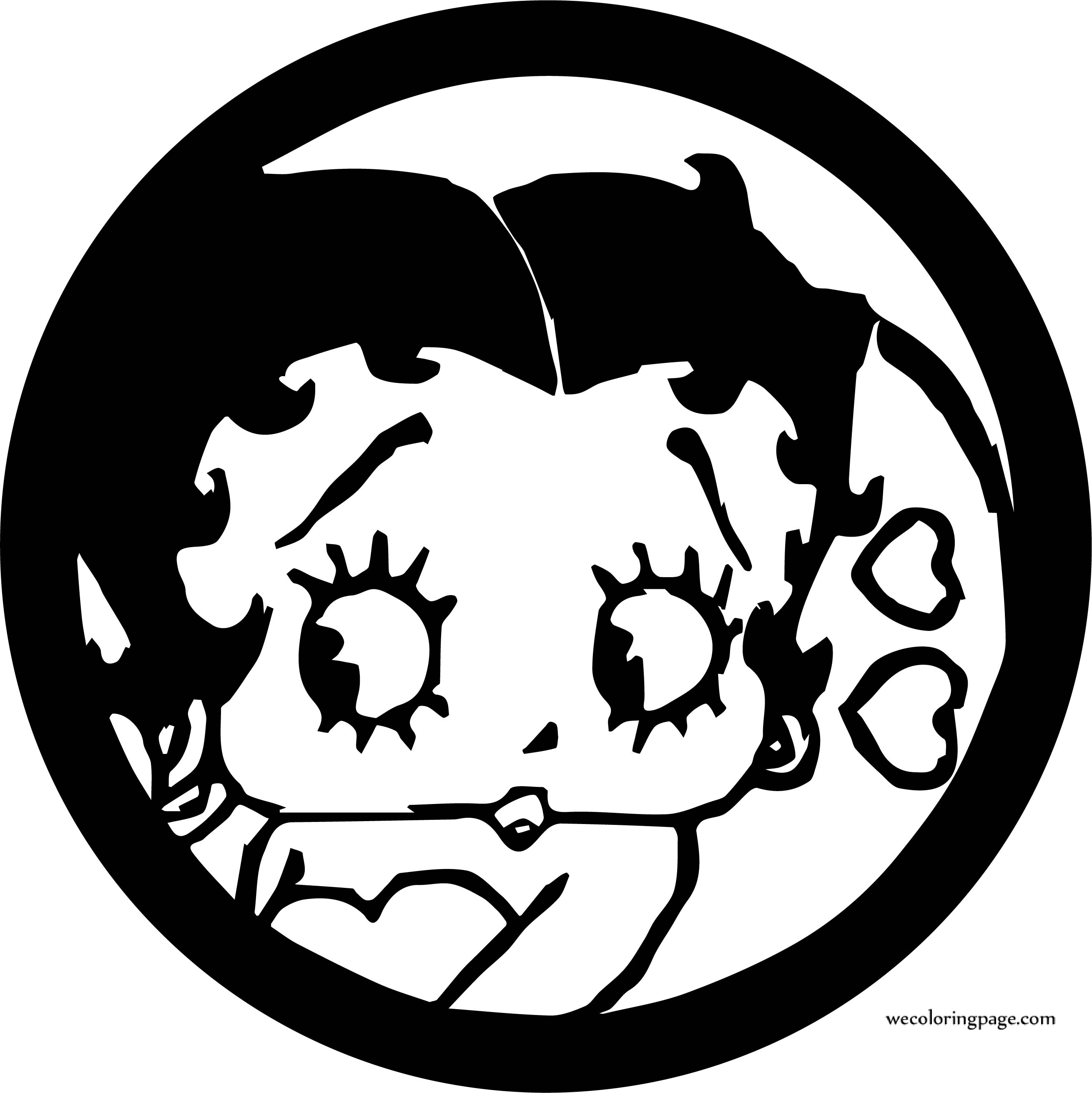 Betty Boop In Circle Coloring Page