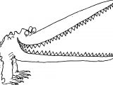 Big Mouth Creature Crocodile Alligator Coloring Page