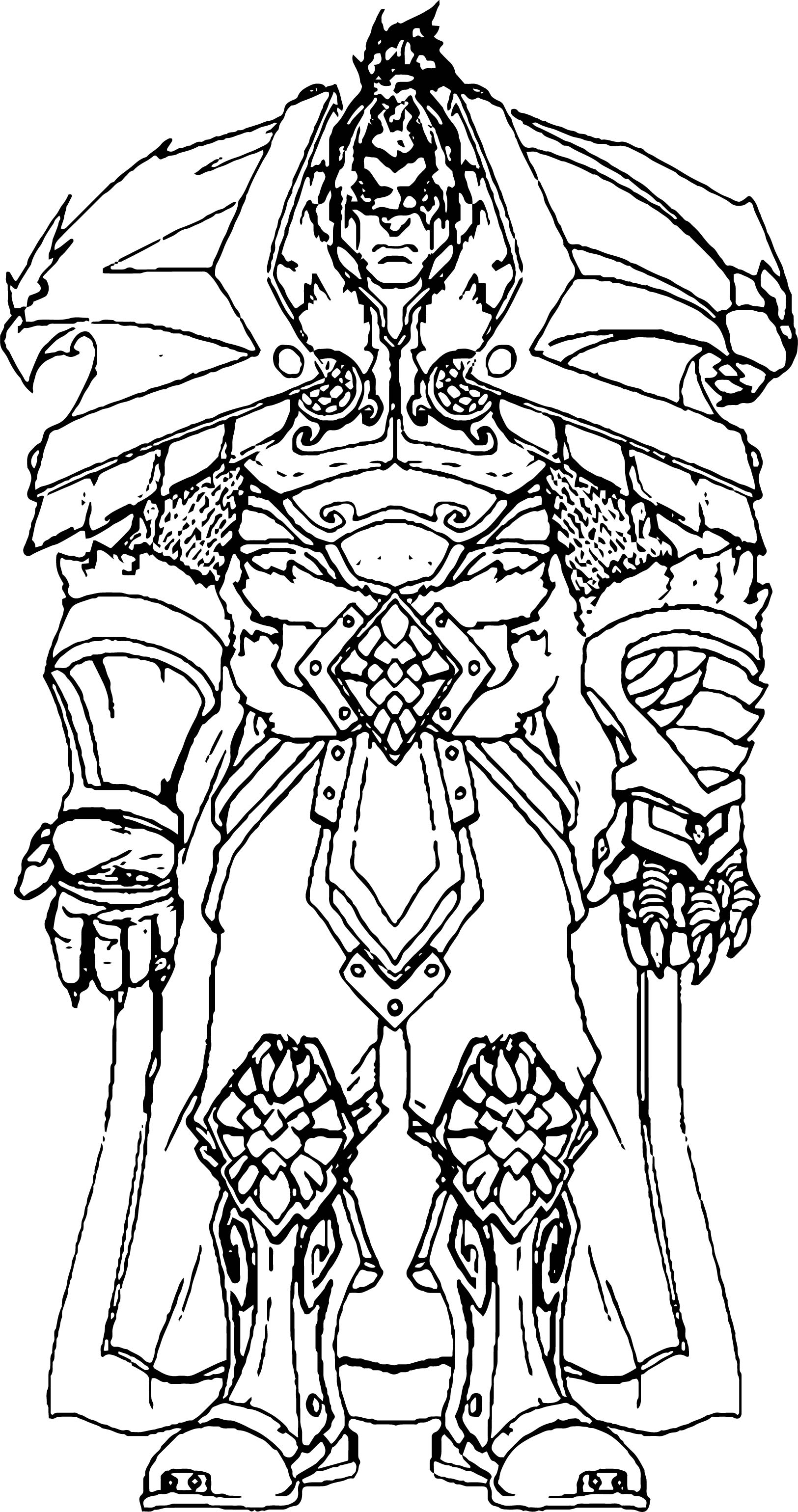 Big Warrior Characters Coloring Page