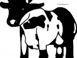 Black Face White Body Cow Coloring Page