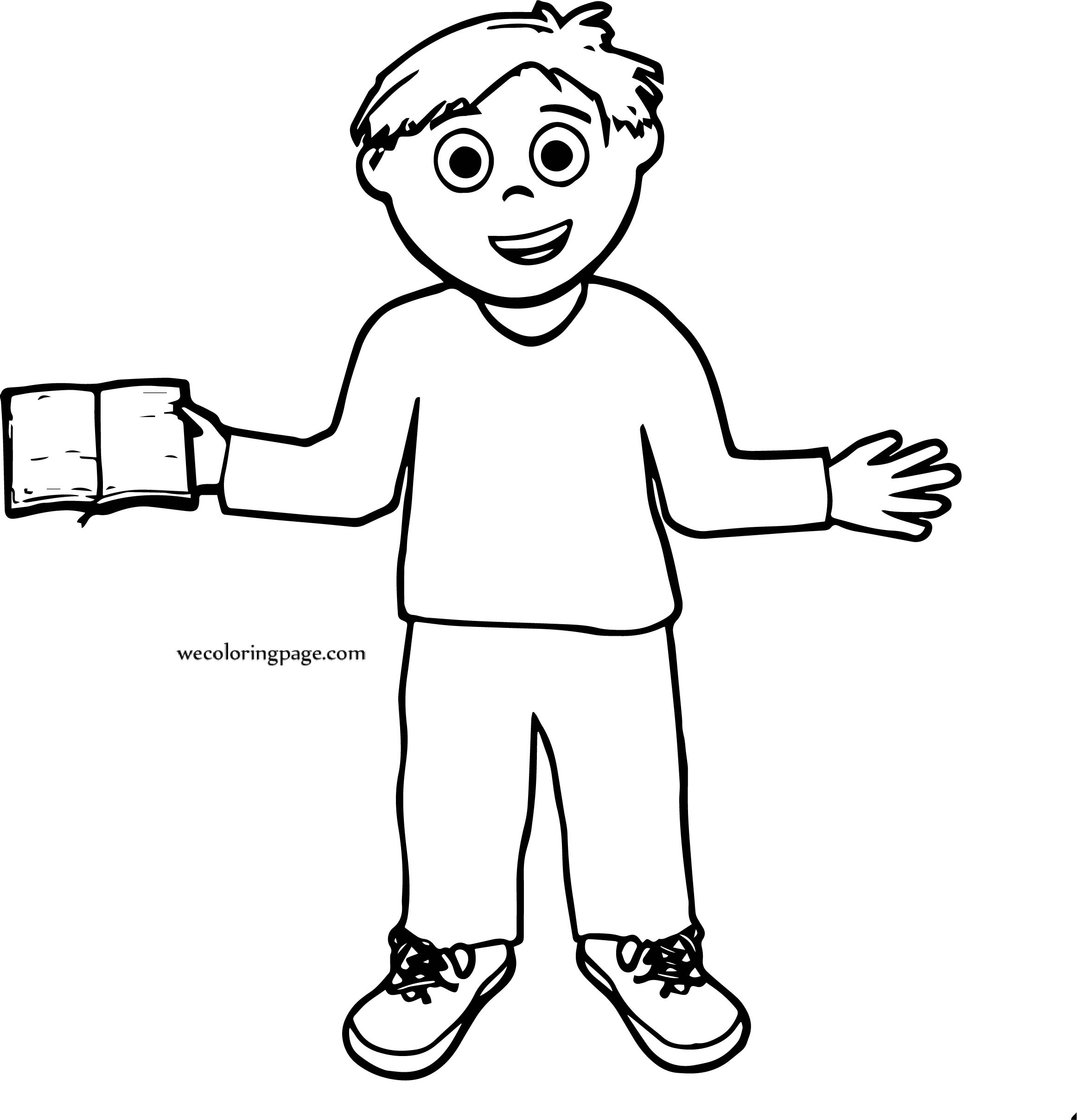 Book Is Boy Coloring Page