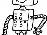 Box Robot Coloring Page