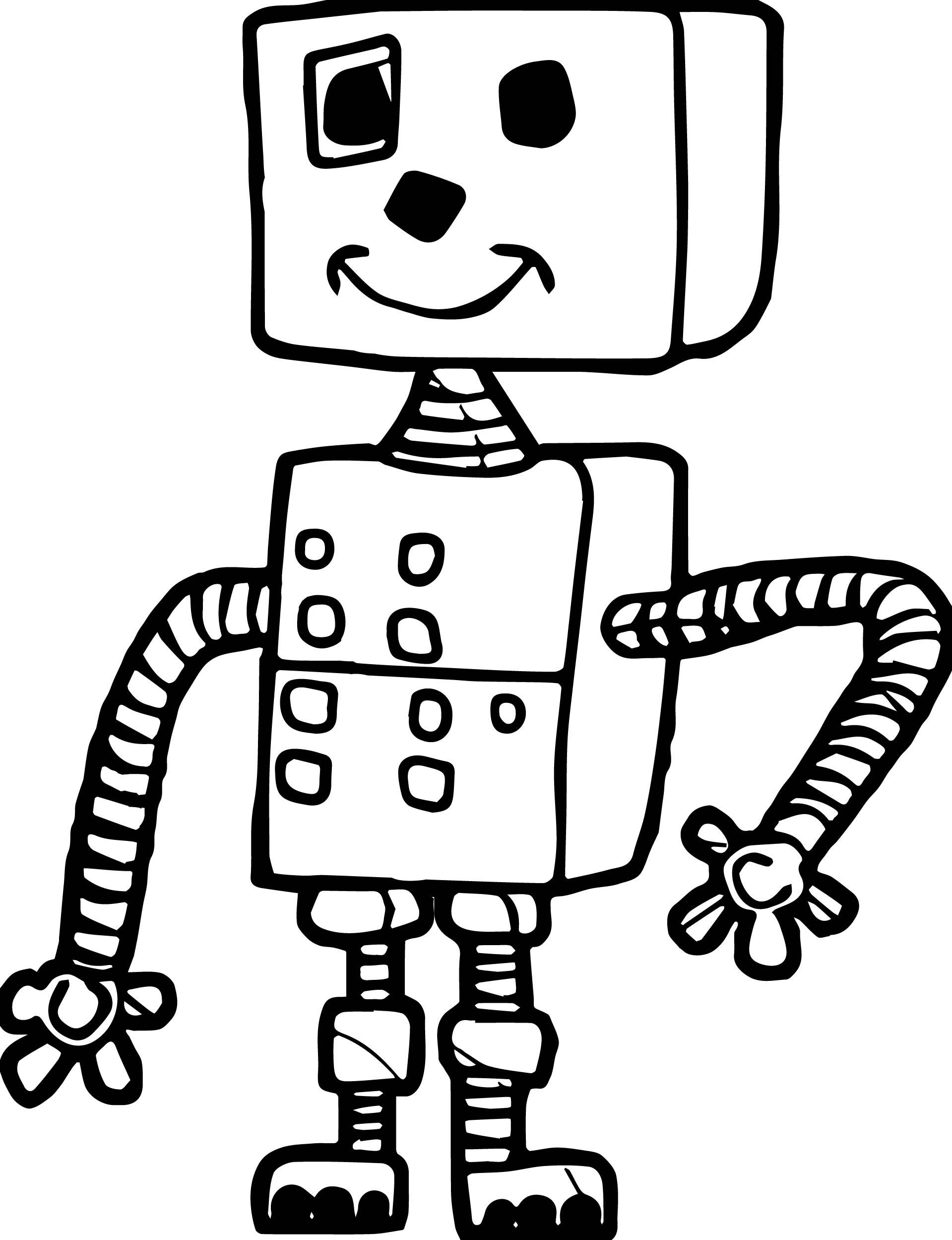 Box Robot Coloring Page