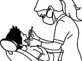 Boy And Woman Dental Coloring Page